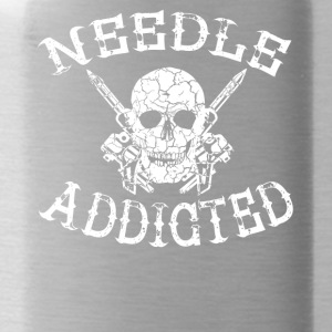 Needle addicted tattoo tattooed needle longing - Water Bottle