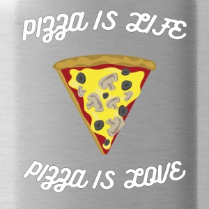 ♥ Pizza is Life ♥ Pizza is Love ♥ Fun T-Shirt - Trinkflasche