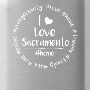 I love Sacramento - Orange County - Trinkflasche