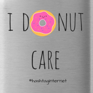 i donut care - i do not care - Water Bottle