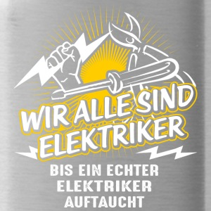 We are all electricians - Water Bottle
