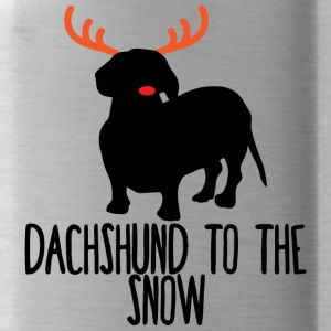 Dachshund / Dachshund: Dachshund To The Snow - Water Bottle