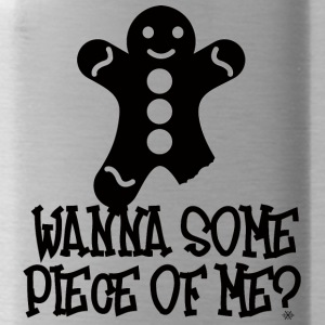 Christmas: Wanna Some Piece Of Me? - Water Bottle