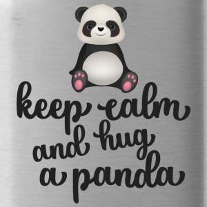 Keep calm and hug a panda - Water Bottle