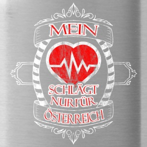 My heart is only for Austria - Water Bottle