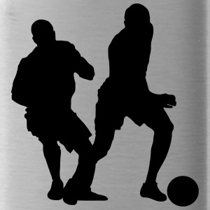 Soccer football player silhouette 6 - Water Bottle