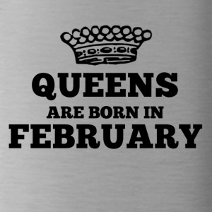 Queens are born in february - Water Bottle