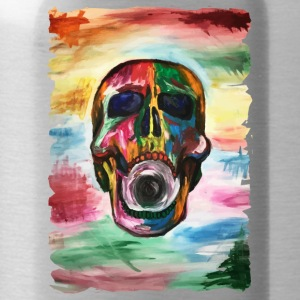 Colorful screaming skull - Water Bottle