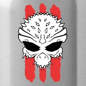 3Red Lines Skull big - Trinkflasche