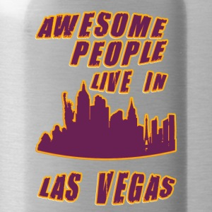 Las vegas Awesome people live in - Water Bottle