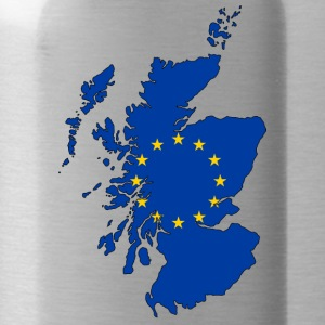 Scotland Map with EU Flag - Trinkflasche