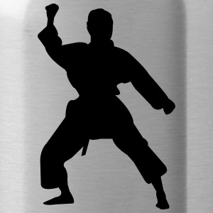 Kung Fu Fighter Silhouette 5 - Vattenflaska