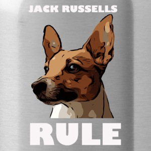 Jack russels rule white - Trinkflasche