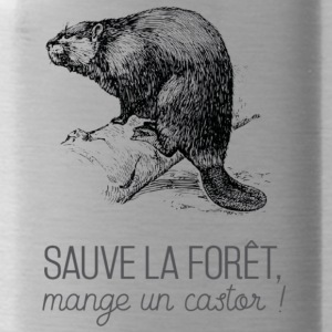 Saves the forest, eat a beaver! - Water Bottle