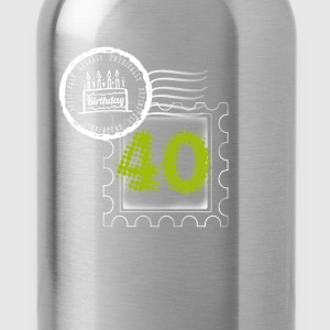 pie 40th birthday gift stamp Post - Water Bottle