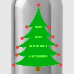 Trump Brexit Christmas - Water Bottle