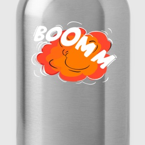 Comic Knall Peng Explosion Krach humor Rums boom w - Trinkflasche