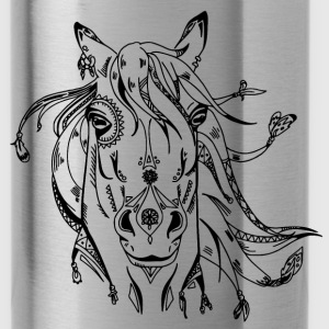 Decorated horse head - Water Bottle
