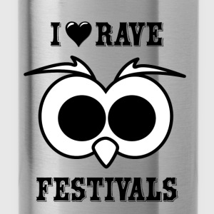 I Love Rave Festivals - Trinkflasche