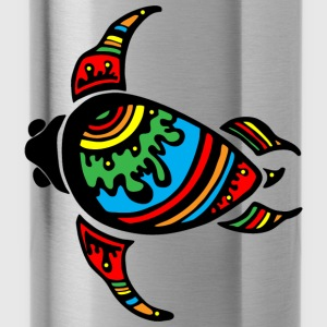 colorful turtle - Water Bottle