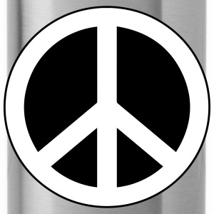 Peace, love and happiness - Water Bottle