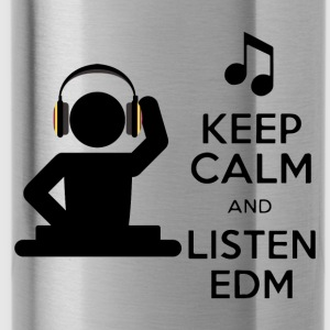 keep calm and listen edm - Water Bottle
