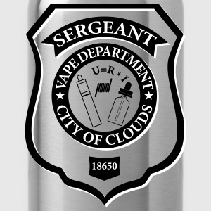 Sergeant Vape Badge - Water Bottle