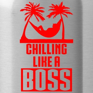 CHILLING LIKE A BOSS rot - Trinkflasche