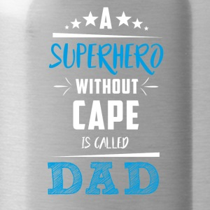 Father's Day! Superhero! Dad! Daddy! - Water Bottle