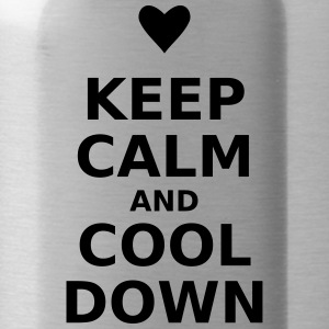 keep calm and cool down - Trinkflasche
