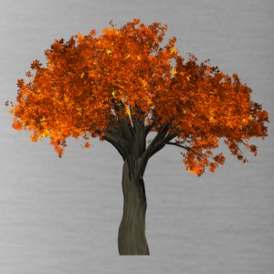 Tree with orange leaves - Autumn - Water Bottle