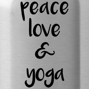 Peace love and yoga - Trinkflasche