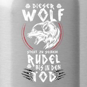 Odin, Thor, Viking, Wikinger, Wolf, Rudel, Patriot - Trinkflasche