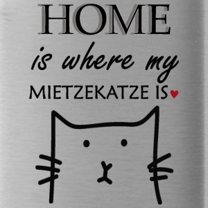 Home is where my miezekatze is - Trinkflasche