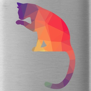 Cat Logo Polygon Bunt - Water Bottle