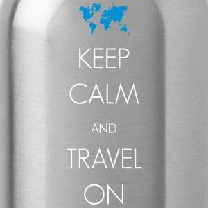 Keep calm and travel on - Trinkflasche