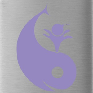 Whale+yin and yang - Water Bottle
