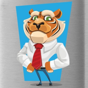 tiger in suit - Water Bottle