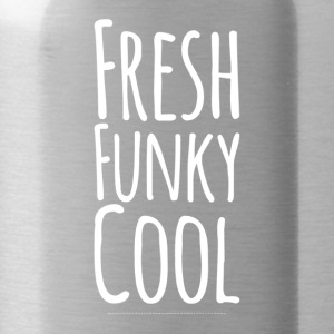 Fresh Funky Cool weiss - Trinkflasche