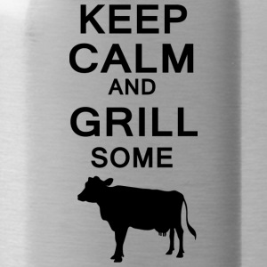 keep calm and grill some cows - Water Bottle