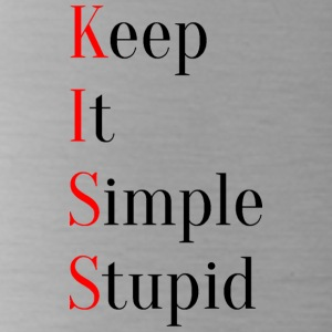 KISS - Keep It Simple Stupid - Water Bottle