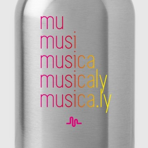 sing muser_farbe music app use humor - Water Bottle