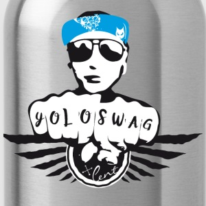 swag yolo fist cool ganster rapping street tatoo gra - Water Bottle
