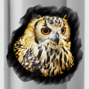 Owl Portrait - Water Bottle