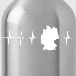 Germany, heartbeat design (I love Germany magnif) - Water Bottle