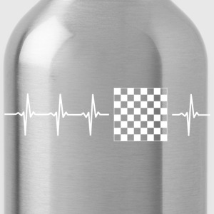 I love chess (chess heartbeat) - Water Bottle