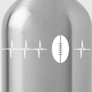 I love rugby (rugby heartbeat) - Water Bottle