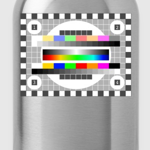 testbild color pattern retro stylish TV running - Water Bottle