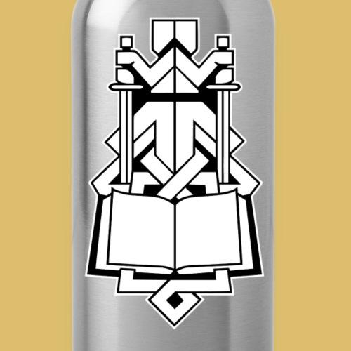 INDESLogo weiß - Trinkflasche mit integriertem Trinkhalm