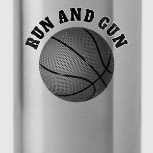Basketball T-Shirt Run and Gun schwarz - Trinkflasche
